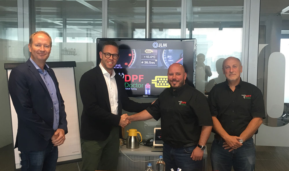 dpf cleaning network and jlm team up pic