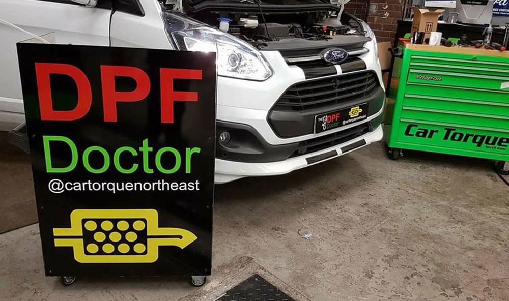 Ford Transit Custom DPF faults P2463 and P246C fixed in Newcastle!