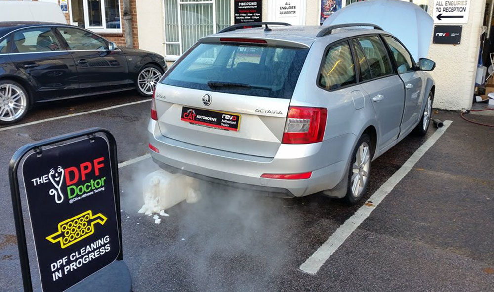 Skoda Octavia 1.6 CRD in this week with a blocked DPF
