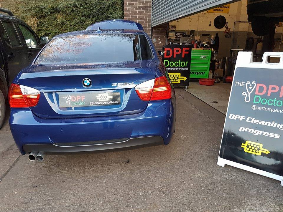 BMW with Blocked DPF Repaired and Cleaned in Newcastle