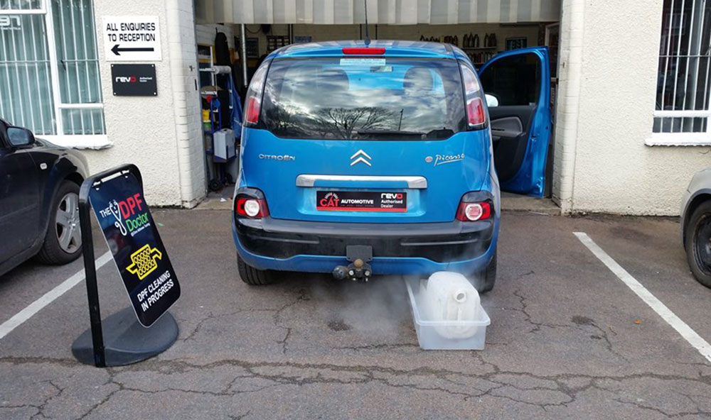 Citroen C3 in this week with a badly blocked DPF