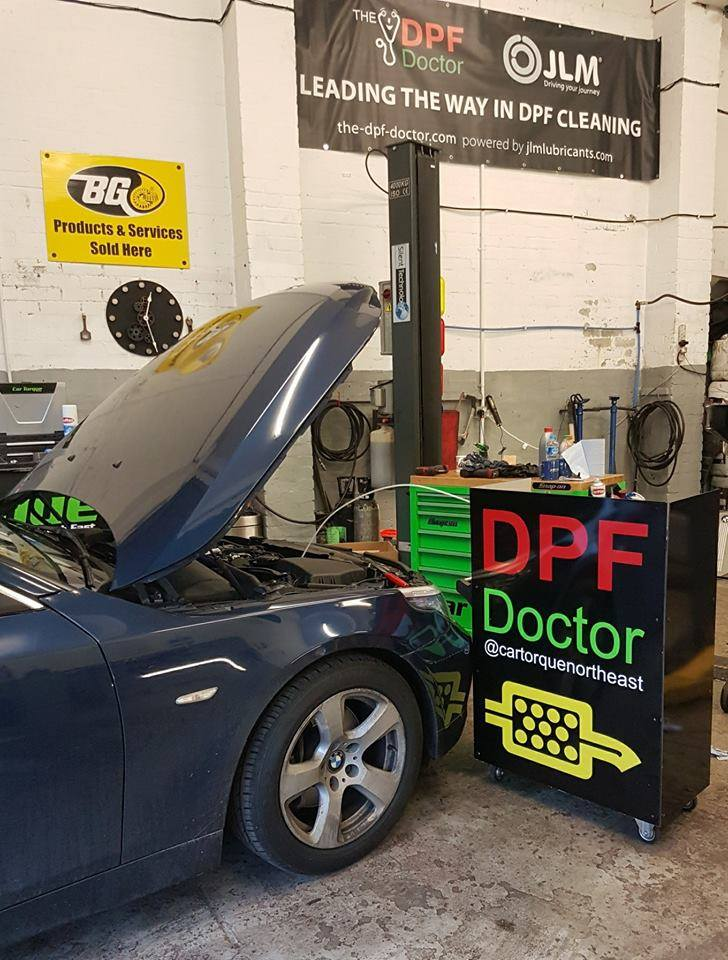 BMW in for a DPF Clean in Newcastlle