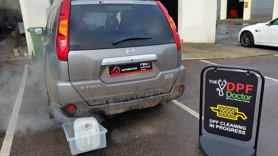 Volvo in for a dpf clean in norwich