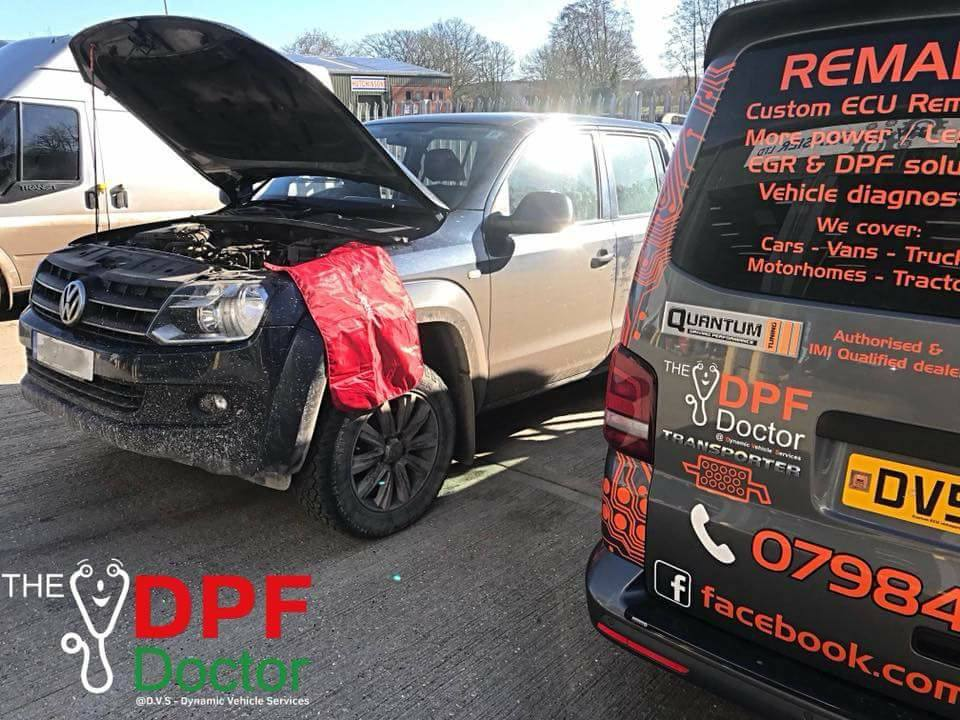 DPF Clean on a VW Amarok in Dover, Kent
