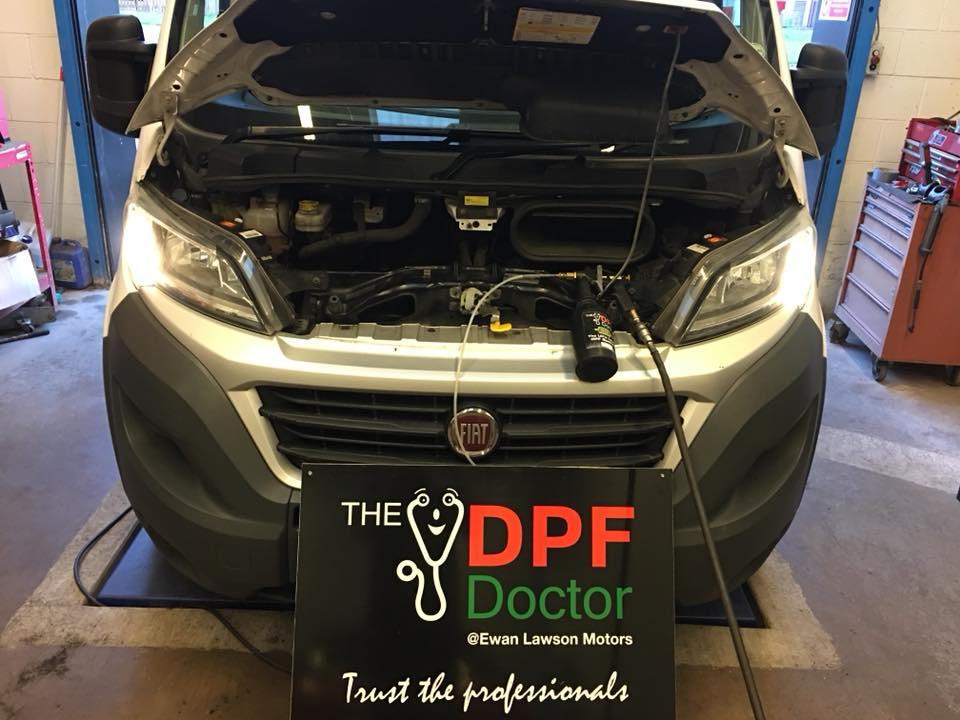 Blocked DPF Cleaned on a Fiat Ducato in Falkirk