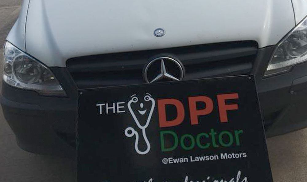 DPF Clean on a Mercedes Vito in Falkirk