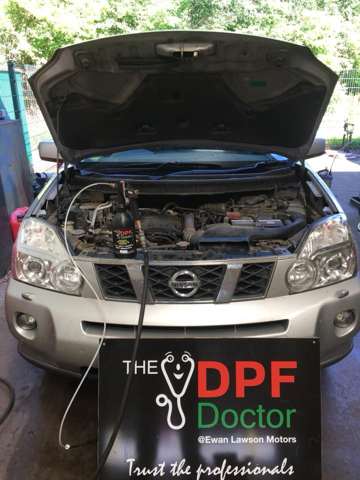 2010 Nissan X-Trail DPF Cleaned in Falkirk