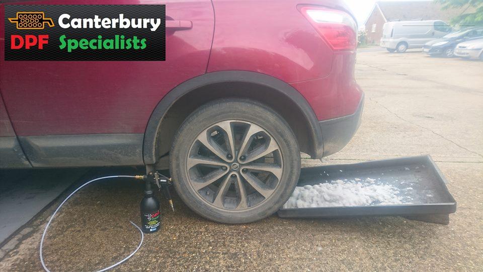 DPF Clean in A Nissan Qashqai in Canterbury