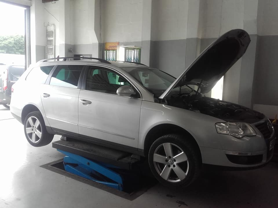VW Passat with a Blocked in for a DPF Clean