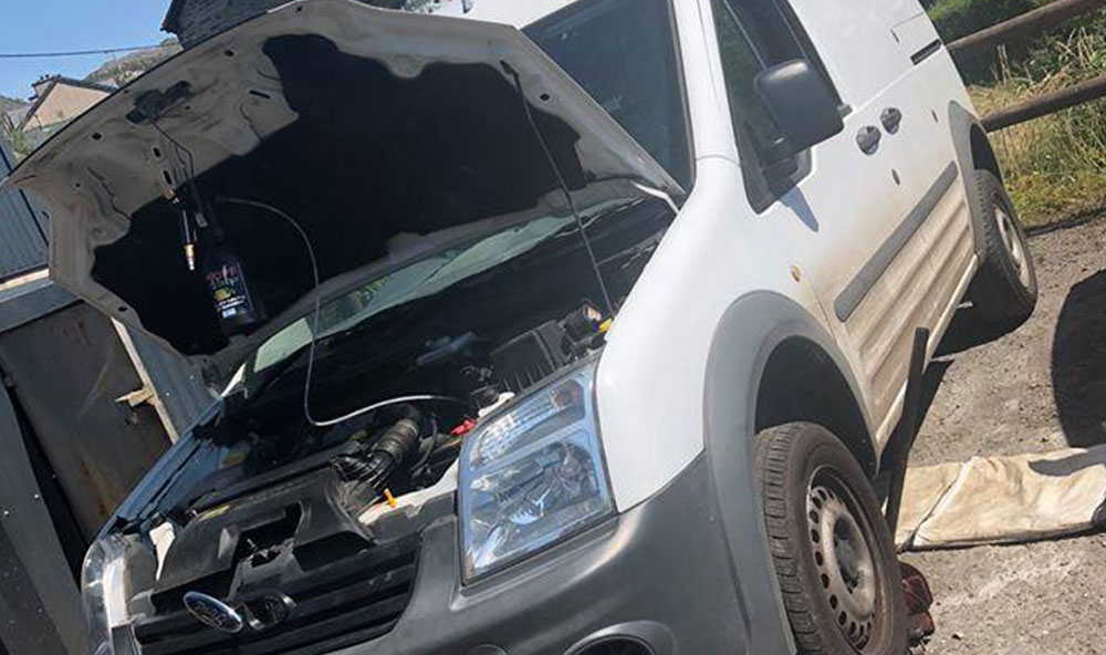 Ford Transit connect 1.8 2012 DPF blocked – fixed in Gwynedd North wales
